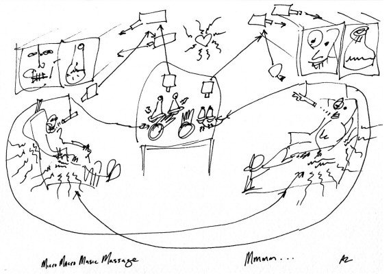 Adam Zaretsky, Working sketch for MMMM (or Macro Micro Music Massage), 2001