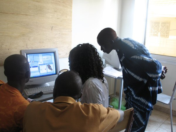 Digi-Arts workshop at École Nationale des Arts de Dakar (Senegal), 2006