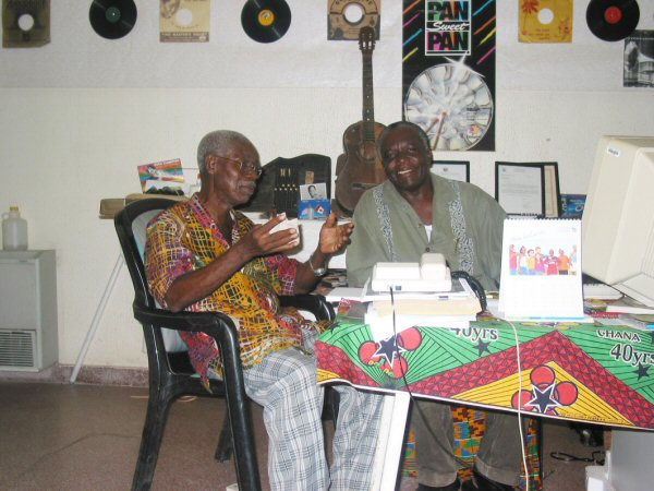 Oscarmore Ofori (left) at the GRMRC with Kwame Sarpong (2003)